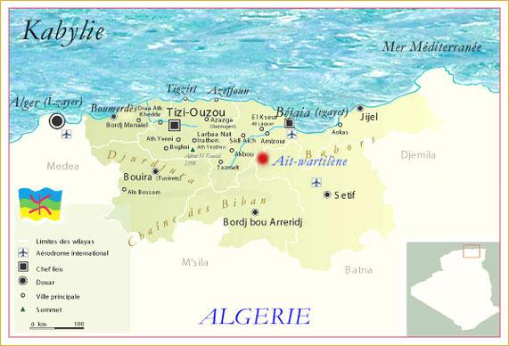 Kabylie Carte Geographique.Kabyle De Beni Ouartilene Et D Ailleurs La Kabyle Images